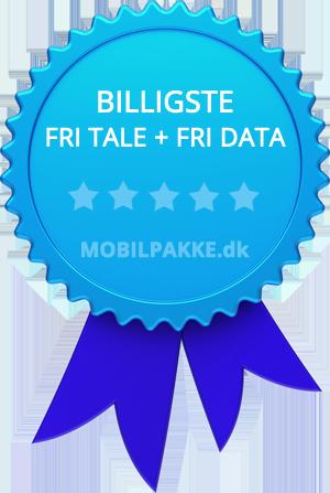 Billigste mobilabonnement med fri tale og fri data